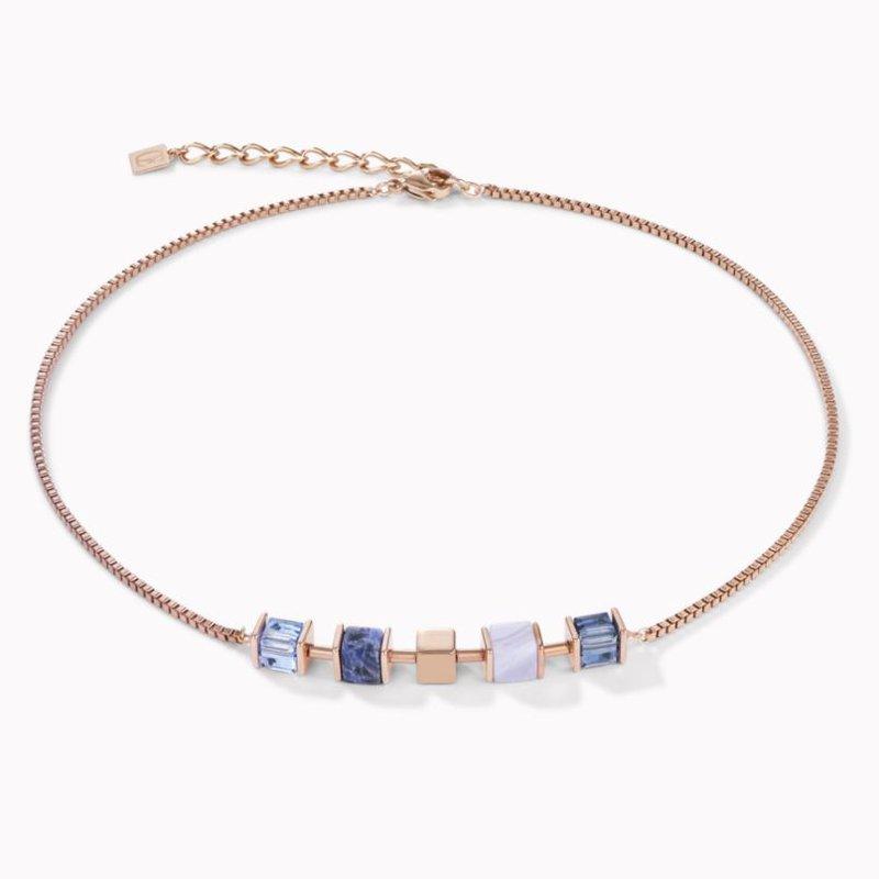 Coeur De Lion Necklace GeoCUBE® & chain blue