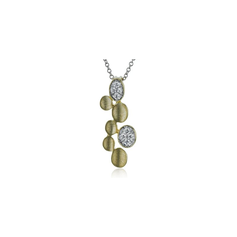 Zeghani Diamond and Gold Pendant