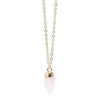 """Sweet Drop"" Necklace in Crystal Quartz"