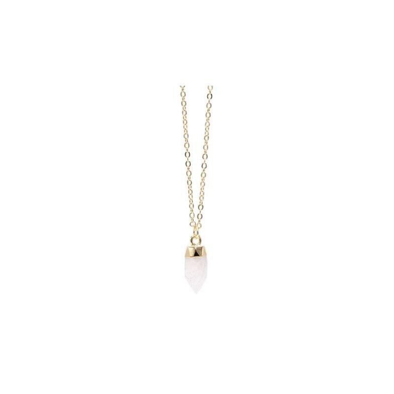 """eLiasz and eLLa """"Sweet Drop"""" Necklace in Crystal Quartz"""
