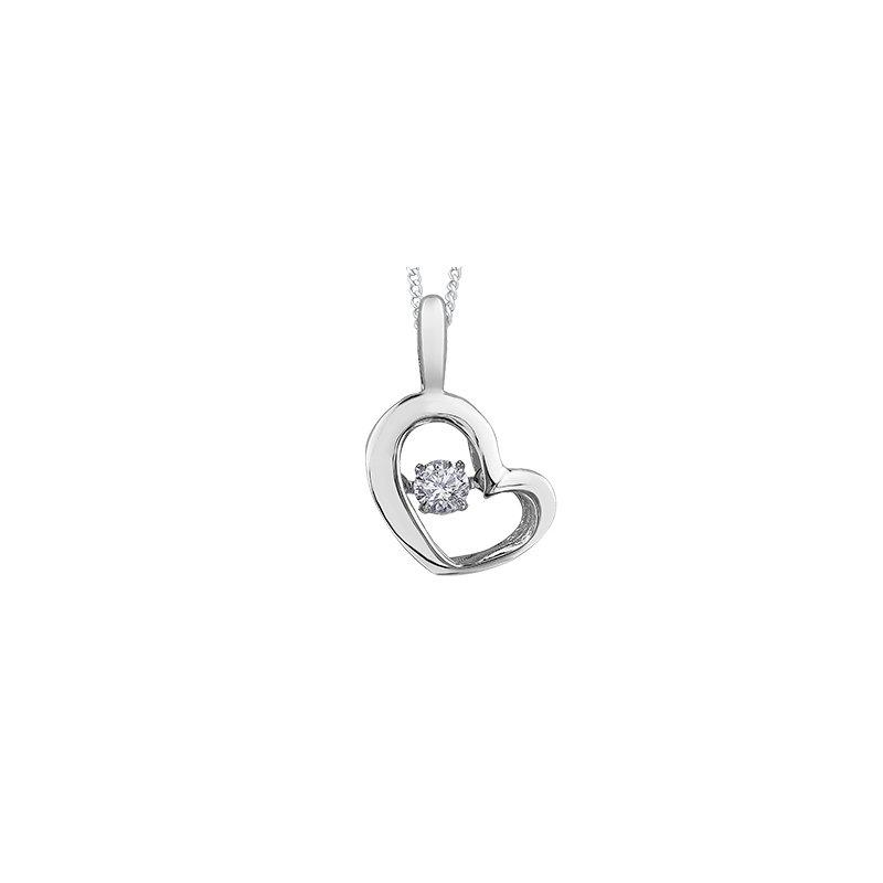 Pulse Moving Diamond Heart Pendant