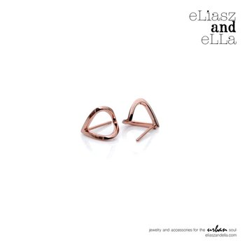 "Rose Gold ""Wrap"" Earrings"