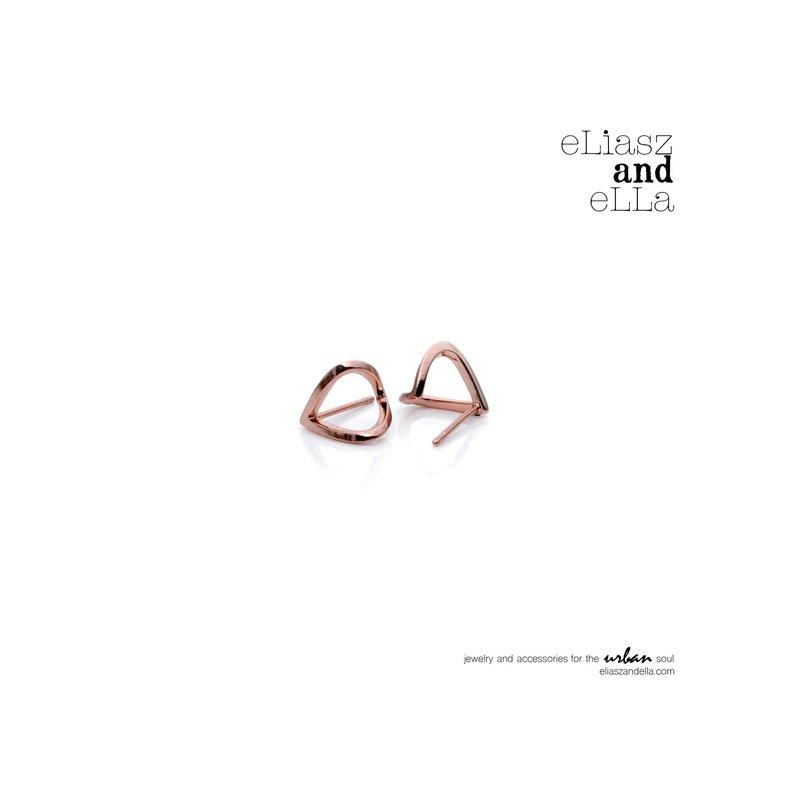 "eLiasz and eLLa Rose Gold ""Wrap"" Earrings"