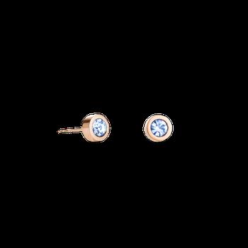 Earrings Crystal & stainless steel light blue