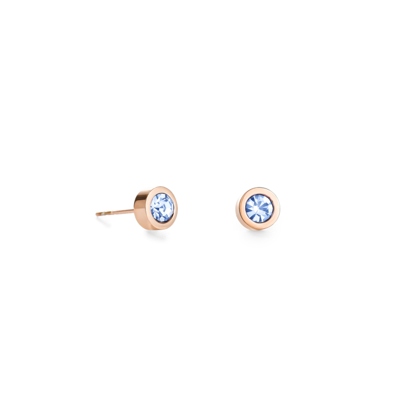 Coeur De Lion Earrings Crystal & stainless steel light blue