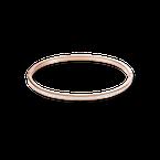 Coeur De Lion Bangle slim stainless steel rose gold & crystals pavé crystal