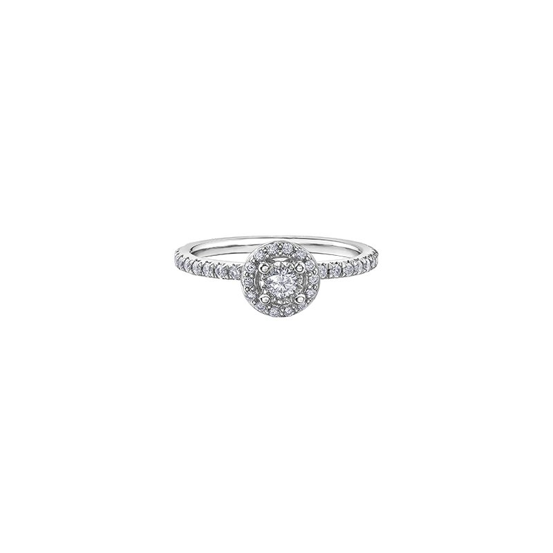 D of D Signature Round Brilliant Ring with Halo