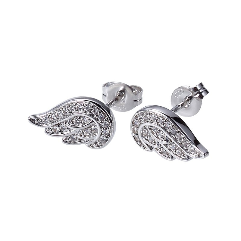 Reign CZ wing studs