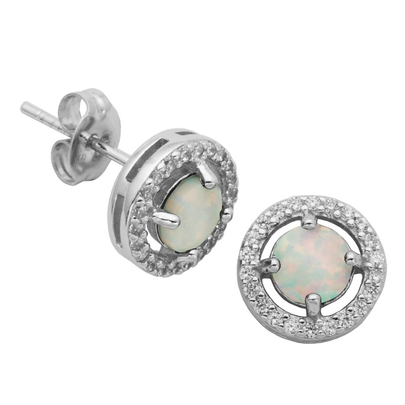 Reign Birthstone Halo Earrings- October