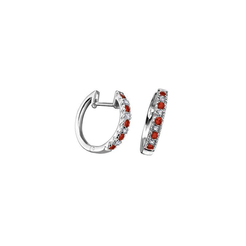 D of D Signature Ruby Hoop Earrings