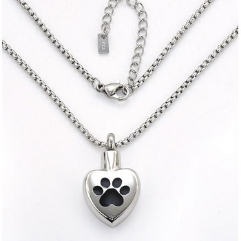 PAW HEART PENDANT FOR ASHES