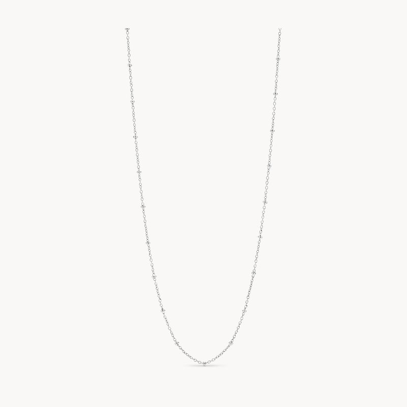 Fossil Silver Bead Chain