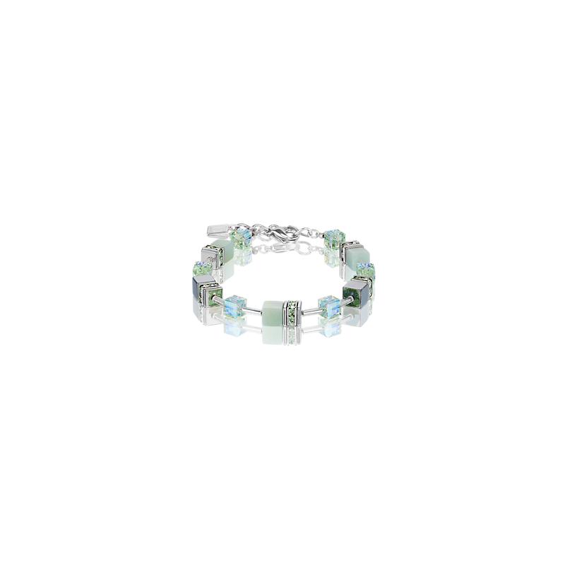 Coeur De Lion GeoCUBE® Bracelet amazonite & haematite light green