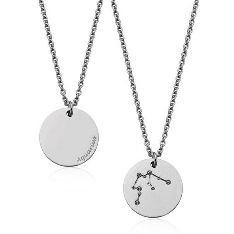 STEELX Constellation Zodiac Pendant- Aquarius