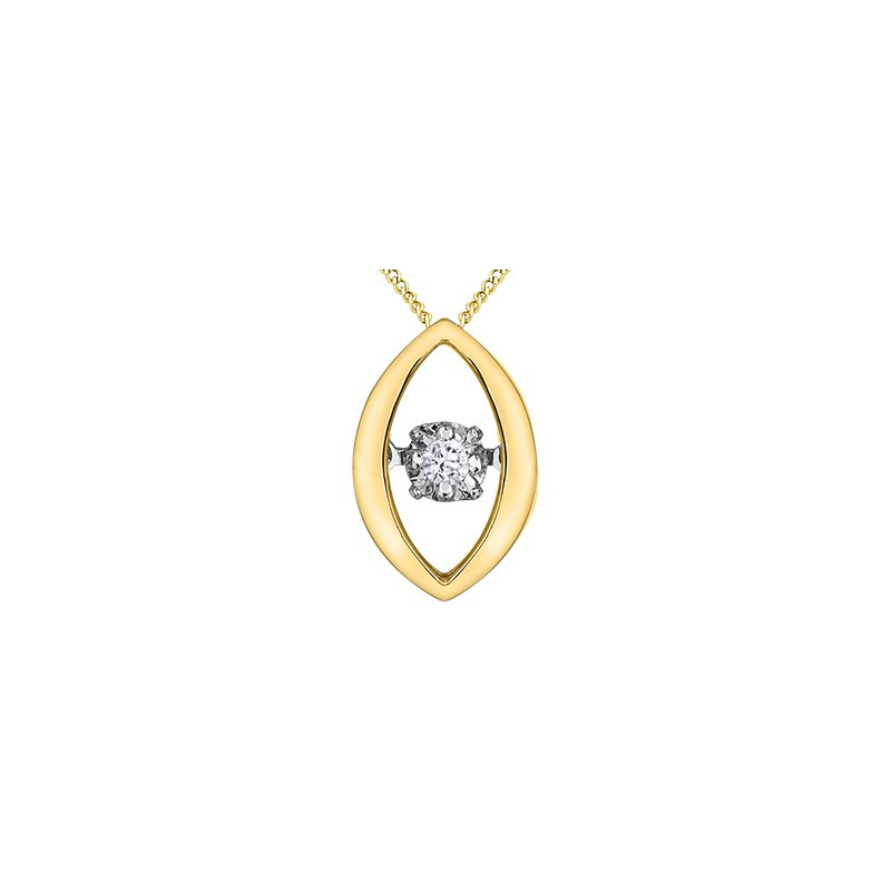 Pulse Moving Diamond Pendant