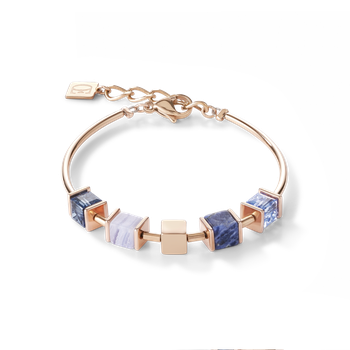 Bracelet GeoCUBE® & chain blue