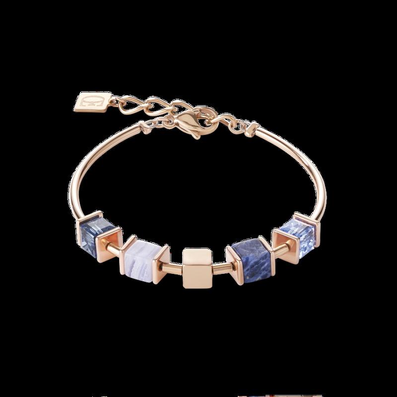 Coeur De Lion Bracelet GeoCUBE® & chain blue