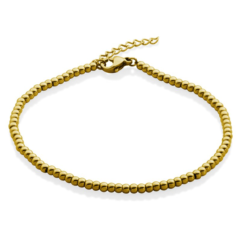 STEELX Gold Plated Bead Braclet