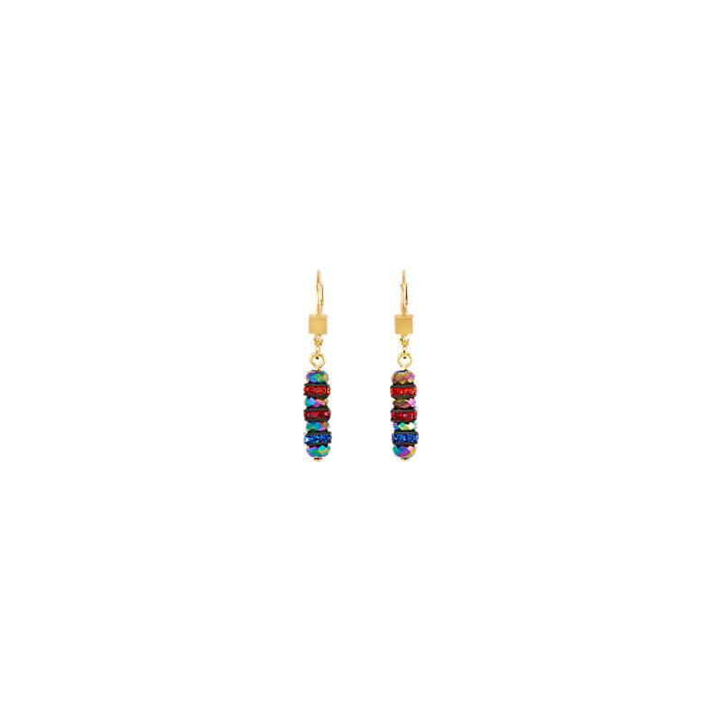 Coeur De Lion Earrings rhinestone & glass multicolour-gold
