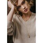 "eLiasz and eLLa ""Caged Diamond"" in gold necklace"