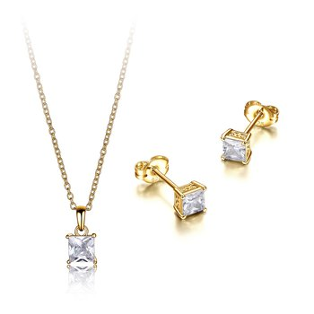 CZ Princess cut set