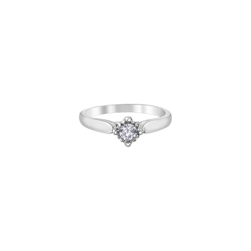 D of D Signature Round Brilliant Solitaire Bridal Ring