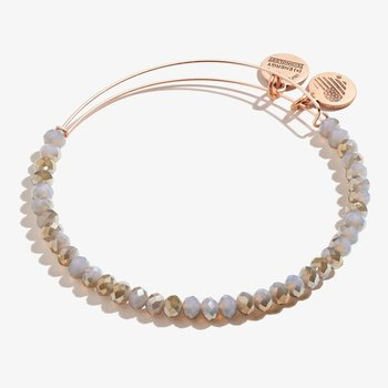 Brilliance Beaded Bangle, Mauve