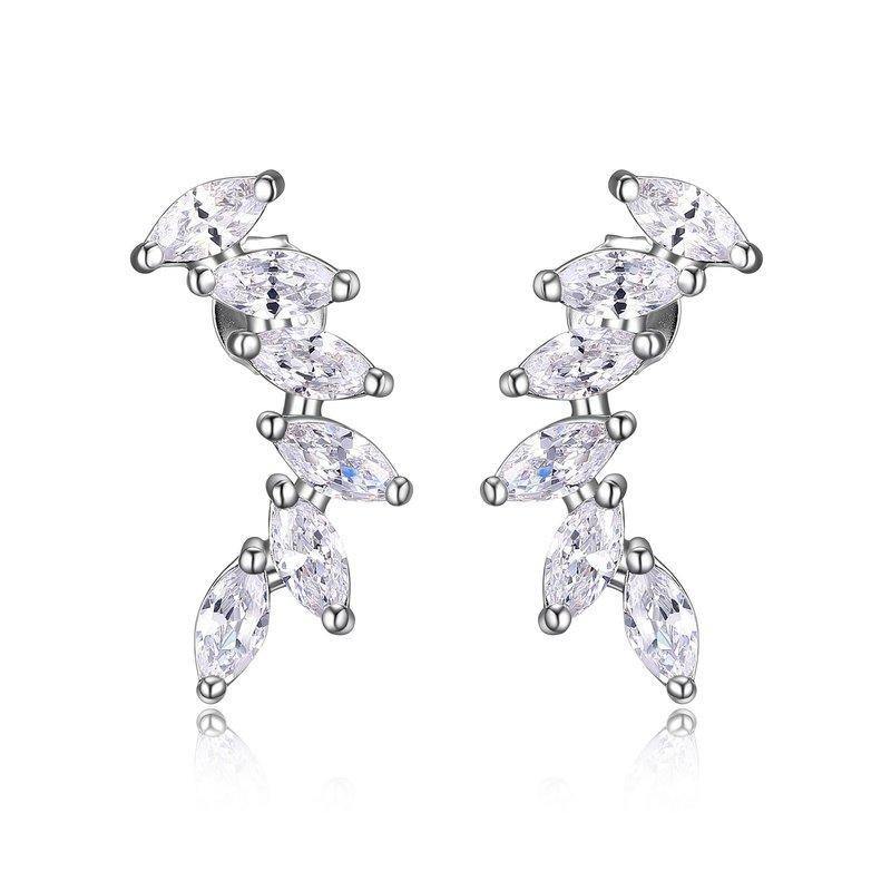 Reign CZ crawler earrings