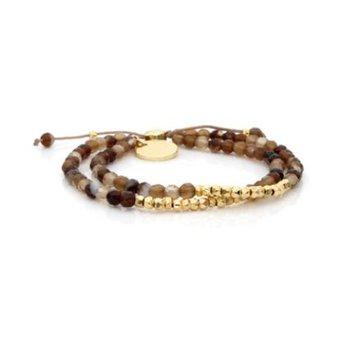 """""""Golden"""" Mixbead Stone Bangin' Bracelet"""