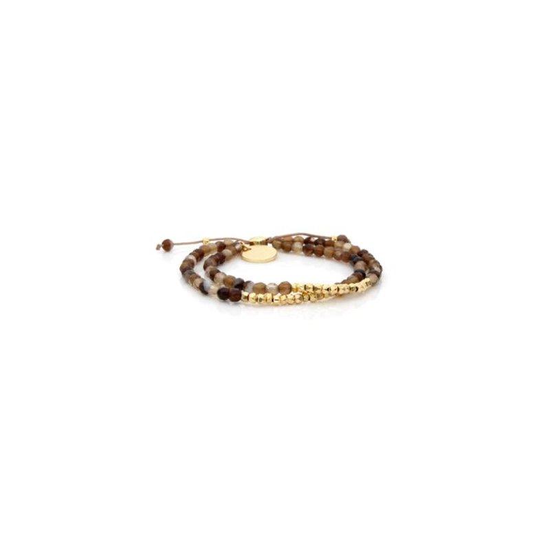 """eLiasz and eLLa """"Golden"""" Mixbead Stone Bangin' Bracelet"""