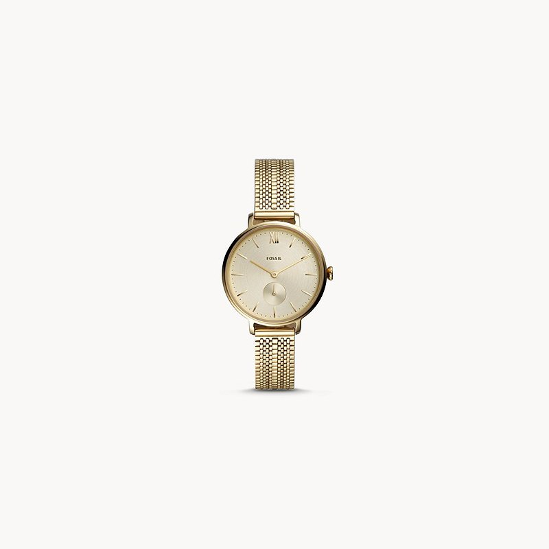 Fossil Ladies Gold Metal Watch