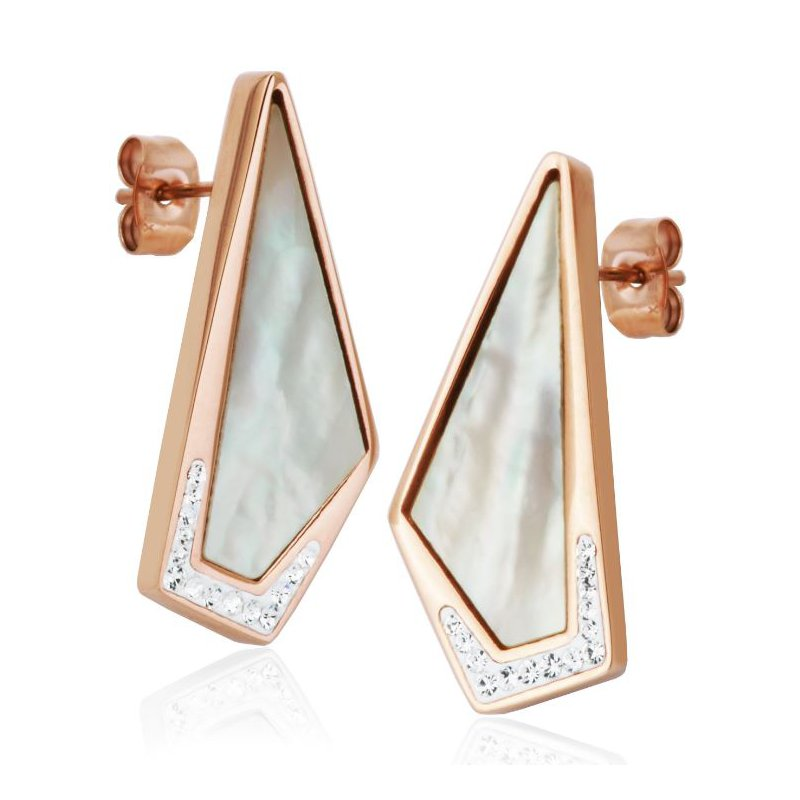 STEELX Mother of Pearl CZ Earring RPG