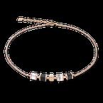 Coeur De Lion Necklace GeoCUBE® & chain black-white