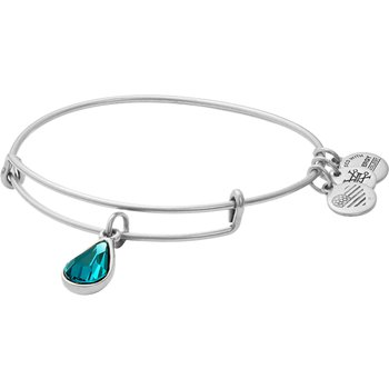 Dec birthstone adjustable bangle