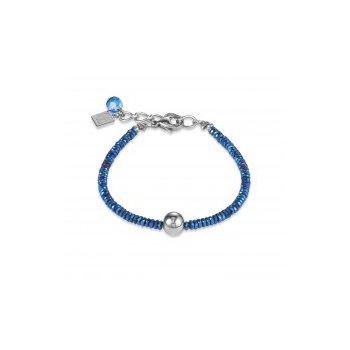 Bracelet blue & stainless steel silver