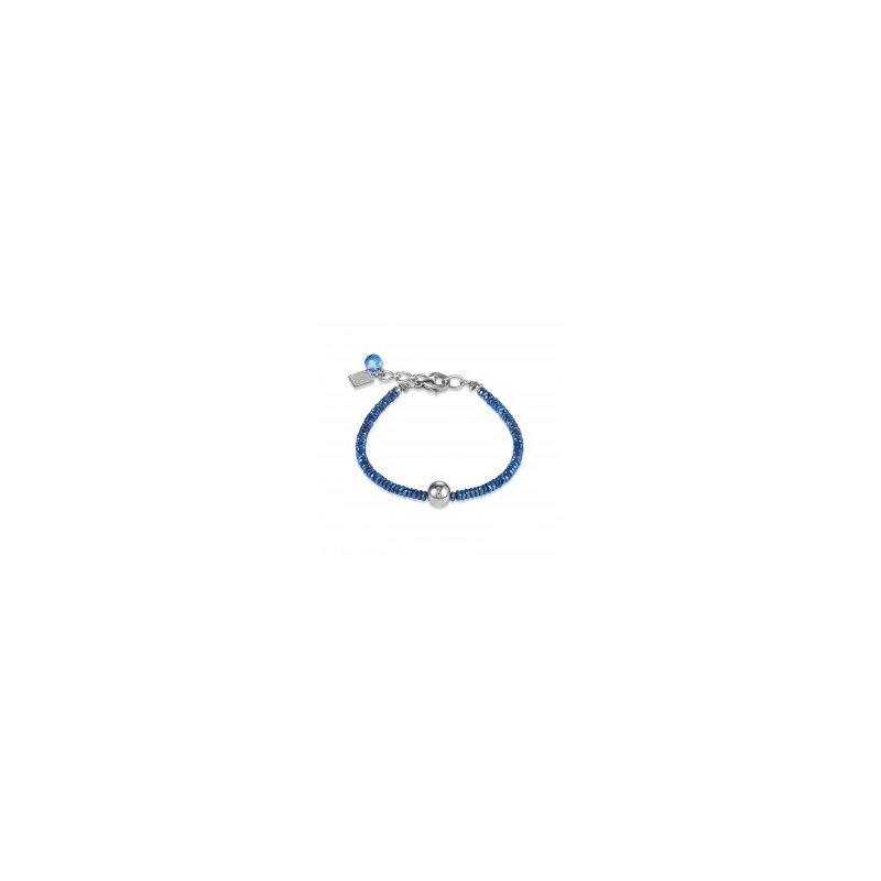 Coeur De Lion Bracelet blue & stainless steel silver