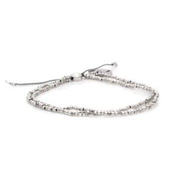 "Silver ""Tiny"" Bead Bangin' Bracelet"