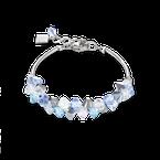 Coeur De Lion Bracelet Swarovski® Crystals & stainless steel light blue
