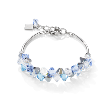 Bracelet Swarovski® Crystals & stainless steel light blue
