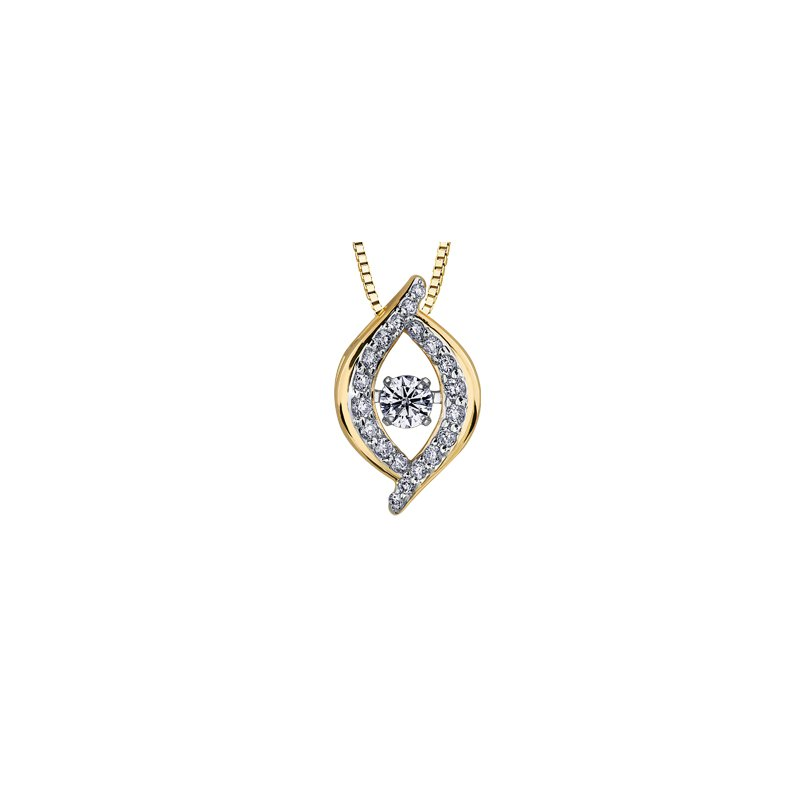 Pulse Moving Diamond Pendant