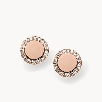 Rose Gold Tone Glitz Metal Studs