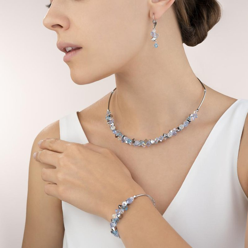 Coeur De Lion Earrings Swarovski® Crystals & stainless steel light blue