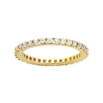 Gold Tone Eternity Ring