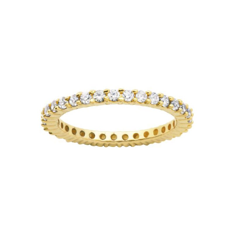 Reign Gold Tone Eternity Ring