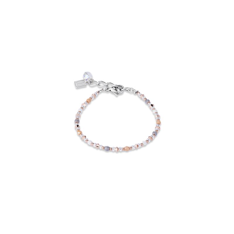 Coeur De Lion Coeur De Lion Bracelet Swarovski® Crystals & stainless steel rose gold-silver