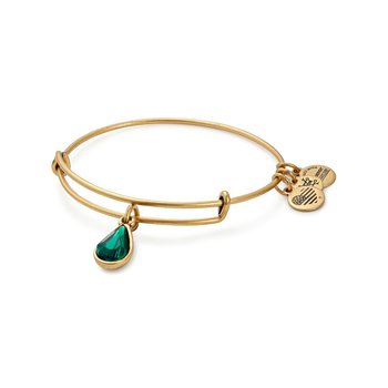 May birthstone adjustable bangle