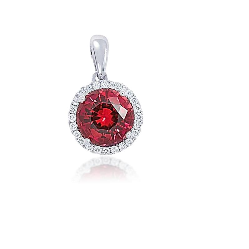 Chatham Chatham Ruby Diamond Pendant