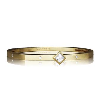 Princess Cut Bangle Bracelet