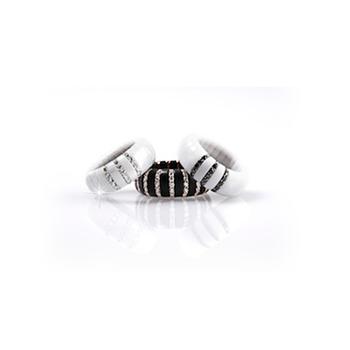 Pura Diamond (3) & Black Ceramic Ring