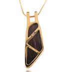 JC Sipe Couture Boulder Opal Pendant 18K Yellow Gold
